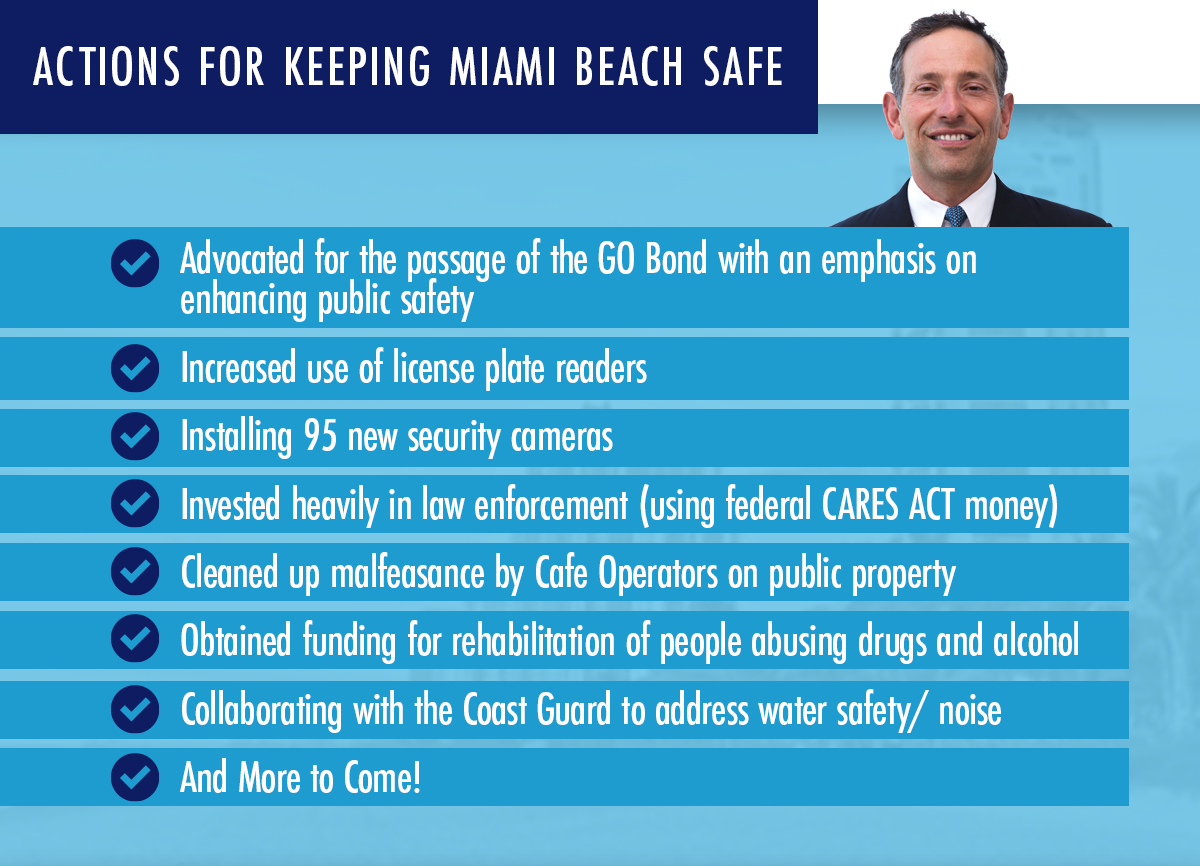 Actions for Keeping Miami Beach Safe